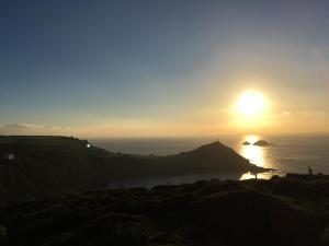 Cape Cornwall, winter sunset